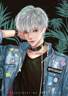 Garçon Anime Hot, Cool Anime Guys, Girls Anime, Handsome Anime Guys, Anime Girl Cute, Anime Art Girl, Fantasy Art Men, Korean Anime, Anime Love Couple
