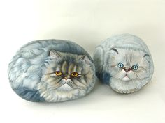 Cat Portraits on stone.