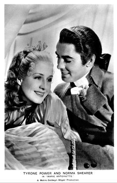 Tyrone Power and Norma Shearer in Marie Antoinette Norma Shearer, Tyrone Power, Star Wars, Marie Antoinette, Handsome, Couple Photos, Wedding Dresses, 18th Century, People