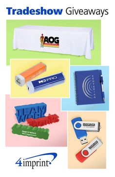 4imprint has everything you need to outfit your tradeshow booth!