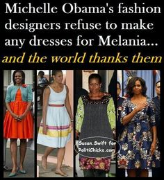 "Melania Trump is too smart to be caught dead in these ""designs."""
