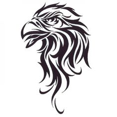 Cool Tribal Eagle Head Tattoo Design
