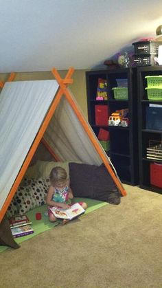 Tent For The Play Room ~ this one looks a tad bit more sturdy than the rest I have seen