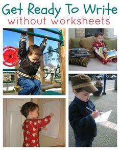 Great pre-writing activities for preschool and kindergarten that focus on development not worksheets.