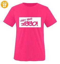 Comedy Shirts - HART ABER ISSO! - Negativ - Mädchen T-Shirt - Pink / Weiss Gr. 152-164 - Shirts mit spruch (*Partner-Link)