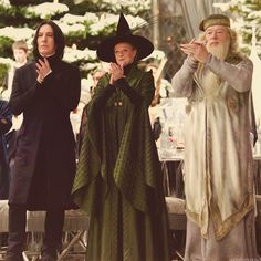Professor Snape, McGonagall and Dumbledore at the Yule Ball ~ Harry Potter and the Goblet of Fire