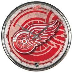 Detroit Red Wings Round Chrome Wall Clock Fun Gift for any occasion great products shipped from the USA