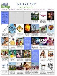 Montreal Kids Activities in August!