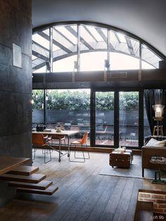 Attic Apartment with Custom Furniture