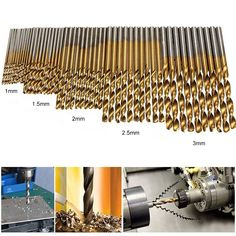 Hss Drill Bit Set For Wood, Plastic And Aluminum. Material: High Speed Steel with Titanium coated. Containing 50 Drill Bit Set.