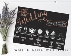 Custom Wedding Timeline Printable timeline Wedding Icon