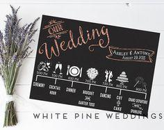 Custom Wedding Timeline Printable timeline Wedding Icon