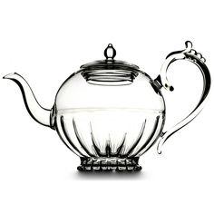 Always wanted a glass tea pot Tea Cup Saucer, Tea Cups, Tea And Books, Glass Teapot, China Tea Sets, Fruit Tea, Teapots And Cups, Rose Tea, Hand Blown Glass