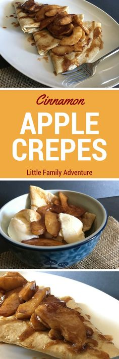 Celebrate the Flavors of Fall with Sauteed Cinnamon Apple Crepes - These simply delicious crepes are made with just a few ingredients and organic apples. They are perfect for breakfast, brunch, dinner, or dessert @aldiusa #ad