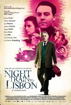 Third poster for Night Train to Lisbon, starring Jeremy Irons, Mélanie Laurent and Jack Huston. The story follows an aging classical languages Swiss professor who, after meeting a Portuguese woman in a chance encounter... The cast also includes Martina Gedeck, August Diehl, Bruno Ganz, Lena Olin, Burghart Klaußner, Nicolau Breyner and Charlotte Rampling.    Night Train to Lisbon made its premiere at this year's Berlin International Film Festival. Image: Night Train to Lisbon movie poster 3