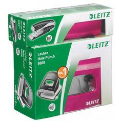 Leitz NeXXt Set - Bundle Locher 5008 + Heftgerät 5502 30 Blatt LE07x 5095x0xx - pink metallic