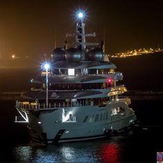 yacht Amadea in Gibraltar. Photo credit @superyachts_gibraltar
