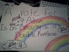 Double Rainbow - 25 Hilarious Student Council Campaign Poster Ideas | Complex