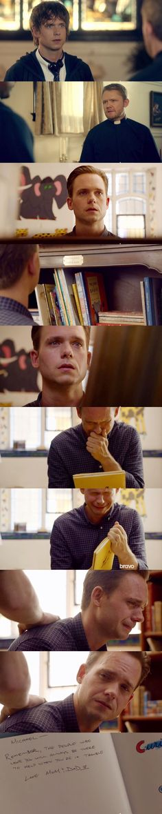Mike Ross- in S05E10 Faith I cried like a baby too.. :'(