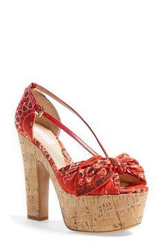 Moschino 'Bandana' Platform Sandal (Women) available at #Nordstrom