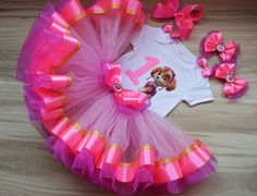 Pink Paw Patrol Skye Birthday Tutu Outfit for girl, Skye Tutu Dress Party Paw Patrol Birthday Outfit, Skye birthday tutu set Paw Patrol Birthday Girl, Baby Girl 1st Birthday, 1st Birthday Outfits, Minnie Birthday, Birthday Tutu, Tutu Outfits, Girl Outfits, Different Shades Of Pink, Special Birthday