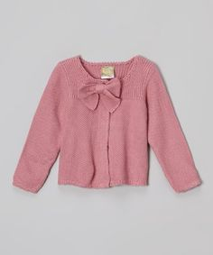 Love this Pale Pink Bow Cardigan - Infant & Toddler on #zulily! #zulilyfinds