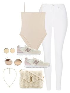 """Untitled #4094"" by magsmccray ❤ liked on Polyvore featuring Topshop, New Balance, Yves Saint Laurent, Linda Farrow, Gucci and Givenchy"