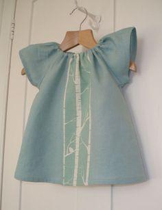 Little girls dress. #blue #birds #birch #dress #girl #sewing #crafts