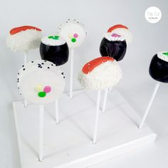 Sushi Cake Pops Sushi Cake, Sushi Party, Cake Pops, Animal Party, Party Themes, Whimsical, 18th, Cakes, Marketing