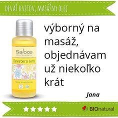 Hodnotenie masážneho oleja 9 kvetov značky  #Saloos http://www.bionatural.sk/p/devat-kvetov-telovy-a-masazny-olej?utm_campaign=hodnotenie&utm_medium=pin&utm_source=pinterest&utm_content=&utm_term=9kvetov_mo