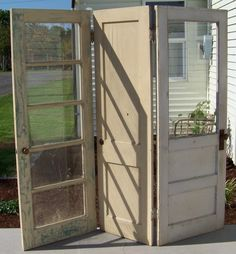These doors came out of an early 1900's home. I thought they would make a cool room divider, so I hinged them together and started sanding t...