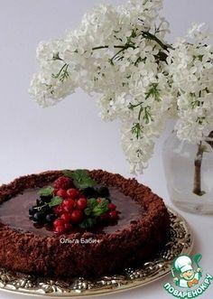 Постный торт с кремом из кокосового молока и карамели