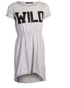 -% ex ATMOSPHERE PRIMARK Grey Jersey Skater Dress with Front Print UK 6-16