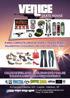 Panfleto - Venice Skate House - Valinhos/SP