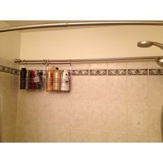 odd shaped bathroom showers | ... idea for storage in an odd-shaped bath/shower! I think I did good