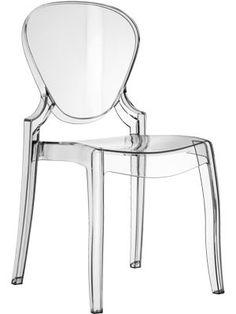 Pedrali: transparent Queen chair