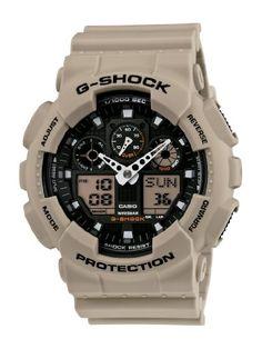 Casio Men's GA100SD-8A G-Shock Military Sand Resin Analog-Digital Watch