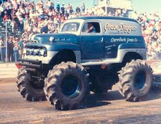 the original Grave Digger 1951 Ford F1 panel monster truck