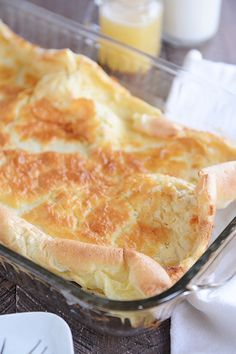 Baked German Pancakes with Buttermilk Syrup | Mel's Kitchen Cafe