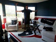 True texan fan game room