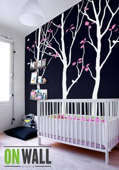Creative Nursery Wall Tree Decal Summer Trees Baby Room With Birds And Leaves 038 On Etsy 79 00 Others Pinterest Decals