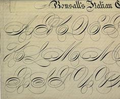 Bonsall's Italian Capitals :: Zaner-Bloser Penmanship