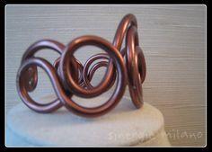 Aluminium BRACELET plaqué cuivre bracelet-ligne par sinergiemilano
