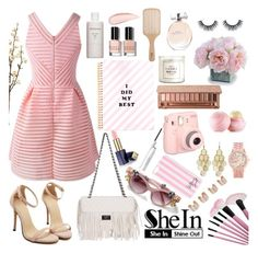 """SheIn"" by diamond-flower ❤ liked on Polyvore featuring New Growth Designs, Bobbi Brown Cosmetics, Estée Lauder, Victoria's Secret, Aéropostale, Alexia Crawford, Urban Decay, Eos, H&M and Calvin Klein Underwear"