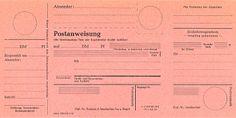 Deutsch: Postanweisung der Deutschen Bundespost aus dem Jahre 1963 Датамарт 2011