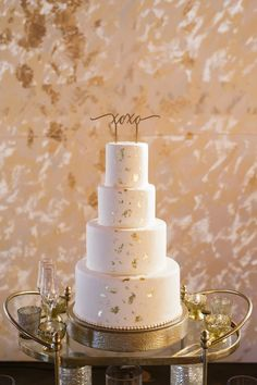 Featured Photographer: Greer Gattuso Photography; wedding cake idea