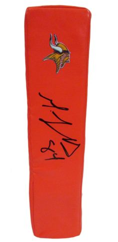Michael Jenkins Autographed Minnesota Vikings Football End Zone Touchdown Pylon, Proof. This is a brand-new custom Michael Jenkins signed Minnesota Vikings football end zone pylon.  This pylon measures 3 inches (Width)  X 3 inches (Length) X 13.5 inches (Height).  Michael signed the pylon in black sharpie. Check out the photo of Michael signing for us. ** Proof photo is included for free with purchase. Please click on images to enlarge. Please browse our website for additional NFL & NCAA…