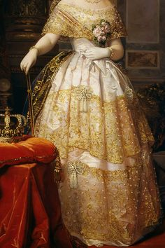 INCREDIBLE DRESSES IN ART (48/∞)Isabella II by Federico de Madrazo, 1849