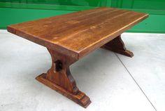 Tavolino tipo fratino in rovere massello da salotto primo '900 lato 135 cm