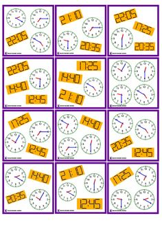 Zegar Dobble do druku Educational Youtube Channels, Math Tables, English Time, Led Wall Clock, English Activities, Gifts For Office, Math For Kids, Telling Time, Fun Learning